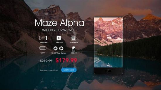 国产全面屏神机Maze Alpha预售开启:千元+双摄